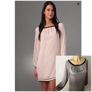 DVF Silk Gray 'Egg Zactly' Dress - Sz 12